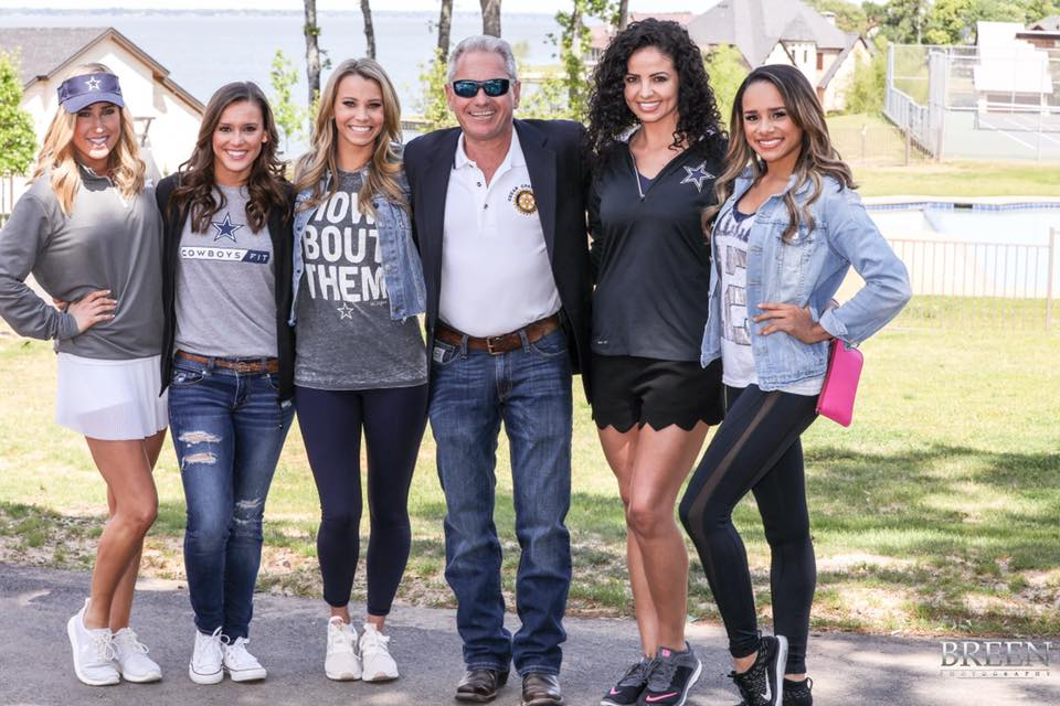 Dallas Cowboys Cheerleaders at the 2018 Rotary Golf Tournament at Cedar Creek Lake.