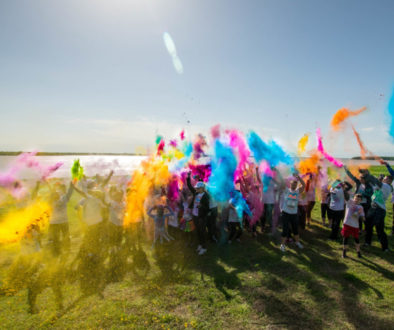 Color Run at Beaon Hill by Sky Guys of Cedar Creek Lake