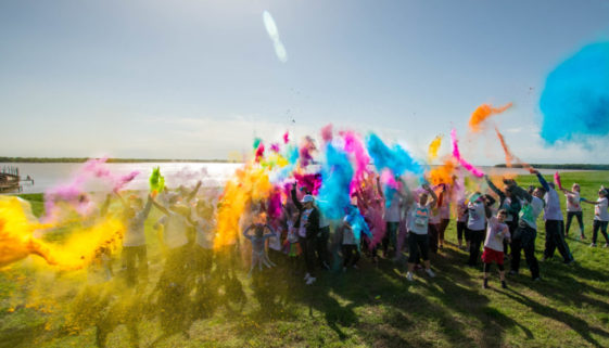 Color Run at Beacon Hill by Sky Guys of Cedar Creek Lake