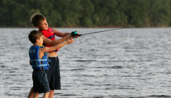 Fishing at Cedar Creek Lake