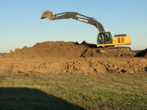 SUR Custom Homes at Beacon Hill begins excavation for Lot 99 on Cedar Creek Lake
