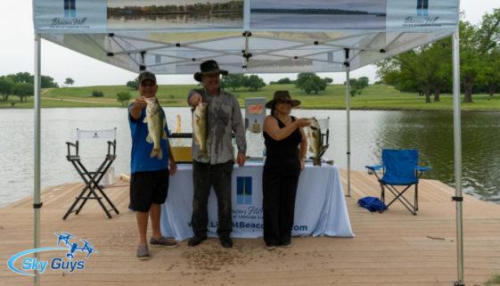 Mark McDonald and guests at Lake Ava Rosetta Bass Tournament.