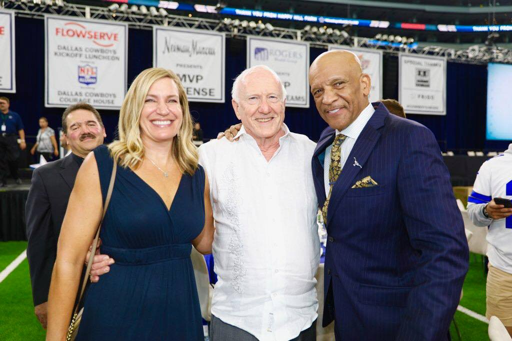 Joyce Stempak with Beacon Hill Developer James Stewart and Dallas Cowboy Drew Pearson