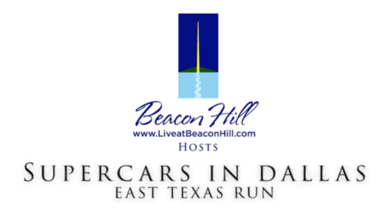 Supercars in Dallas East Texas Run at Beacon Hill on Cedar Creek Lake