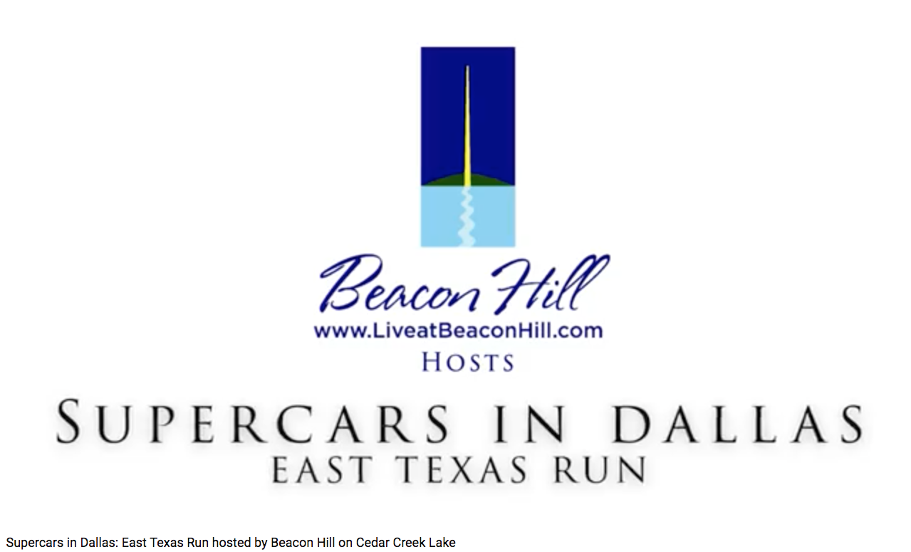 Supercars in Dallas East Texas Run at Beacon Hill on Cedar Creek Lake