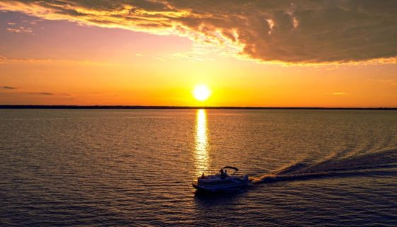 Sunset at Beacon Hill on Cedar Creek Lake